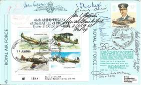 WW2 aces multiple signed cover, inc John Gibson Alec