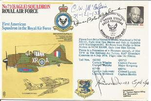 WW2 US aces Don Blakeslee, C McColpin, J Goodrich