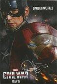 Chris Evans signed 12x8 colour Captain America Civil