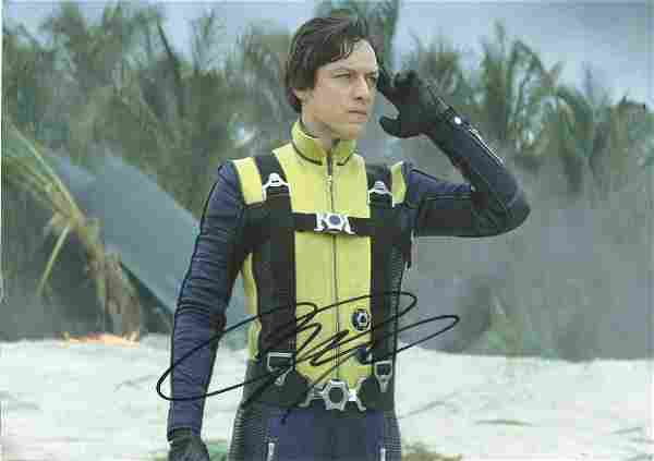 James McAvoy signed 12x8 colour photo pictured in his