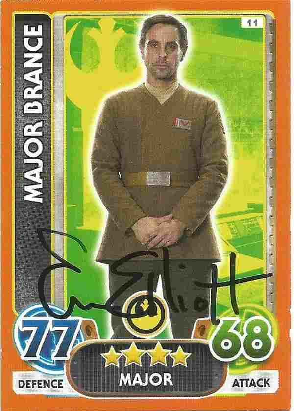 Phoenix James signed Star Wars trading card. James is
