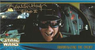 Benedict Taylor signed Star Wars trading card. Taylor