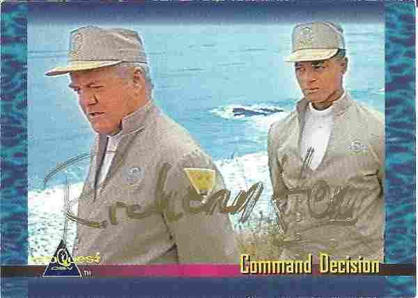 Richard Herd signed trading card for Sea Quest Herd was