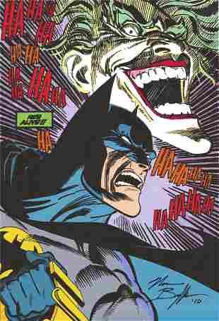 Norman Breyfogle signed Batman and Joker DC comic