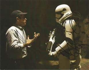 J.J. Abrams signed 10x8 colour photograph taken from