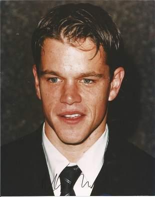 Matt Damon signed 10x8 colour photograph. Damon is a