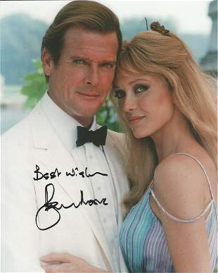 Roger Moore signed 10x8 colour photograph taken during