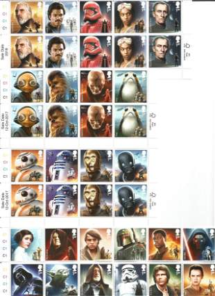 Star Wars collection of stamps and presentation packs.