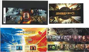 Game Of Thrones collection of stamp presentation packs.
