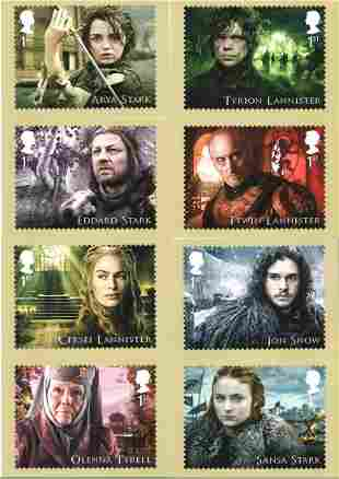 Game of Thrones collection of PHQ cards and a stamp
