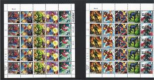 Marvel collection of stamp sheets and presentation