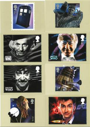 Doctor Who collection of 17 PHQ cards. These lovely