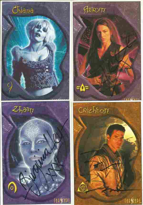 Farscape collection of 4 signed 6x4 colour photographs.