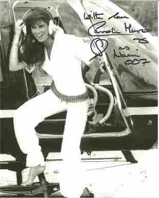 Caroline Munro as Naomi signed 10 x 8 inch b/w James