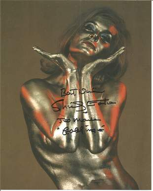 Shirley Eaton Goldfinger signed 10 x 8 inch colour