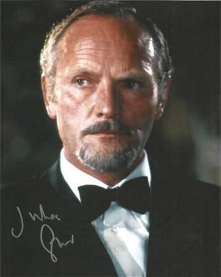 Julian Glover signed 10 x 8 inch colour James Bond