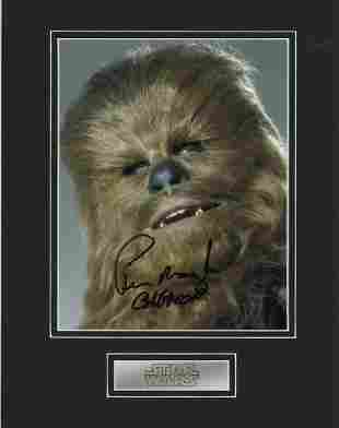 Star Wars, Peter Mayhew beautifully mounted signature