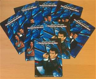 James Bond collection of 8 post cards featuring promo