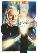 Derek Jacobi signed 12x8 colour Dr Who montage photo.