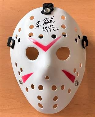 Kane Hodder signed replica mask from the popular horror