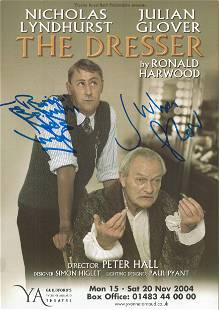 Nicholas Lyndhurst and Julian Glover signed theatre