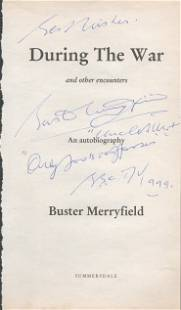 Buster Merryfield signed title page from his