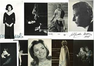 A collection of 23 signed photographs, various sizes