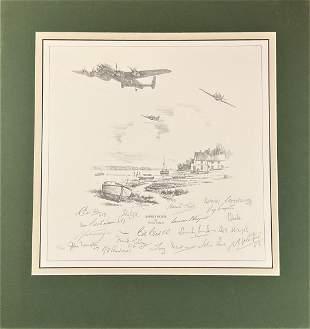 World War II Dambusters multi signed 20x19 mounted