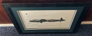 World War II Dambuster 30x23 multi signed framed and