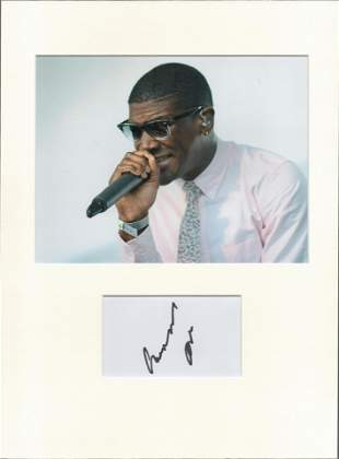 Labrinth Signed card piece. Photo attached. 16 x 12.