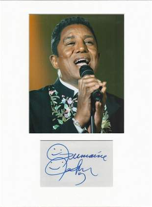 Jermaine Jackson signed card piece. Photo attached. 16