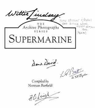 Norman Barfield book. Supermarine. A WW2 paperback