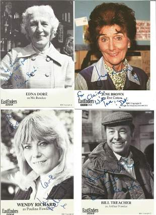 Eastenders signed 6x4 photo collection. 9 in total.