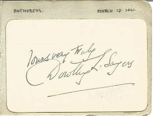 Dorothy Sayers small signature piece. Good condition.
