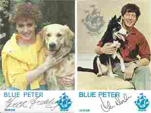John Noakes and Yvette Fielding signed individual 6x4