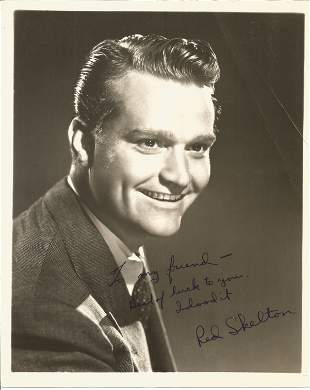 Red Skelton signed 10x8 black and white photo. (July