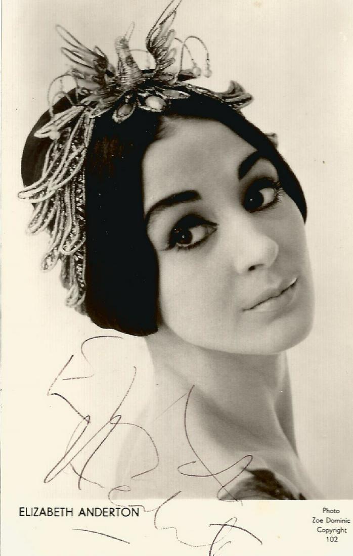 Elizabeth Anderton signed 6x4 black and white
