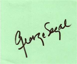 George Segal signature card approx 4x4. Segal was a