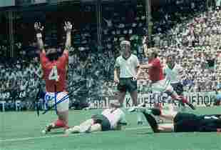 Autographed ALAN MULLERY and FRANCIS LEE 12 x 8 photo -