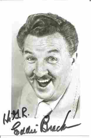 Eddie Bracken signed 6x4 black and white photo.