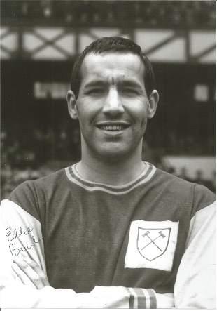 Eddie Bovington Signed 8x10 West Ham United Photo. Good