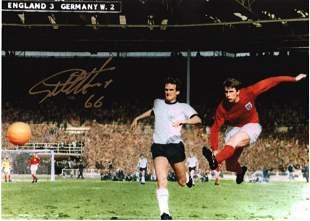 Geoff Hurst Signed 12x16 England 1966 World Cup Final