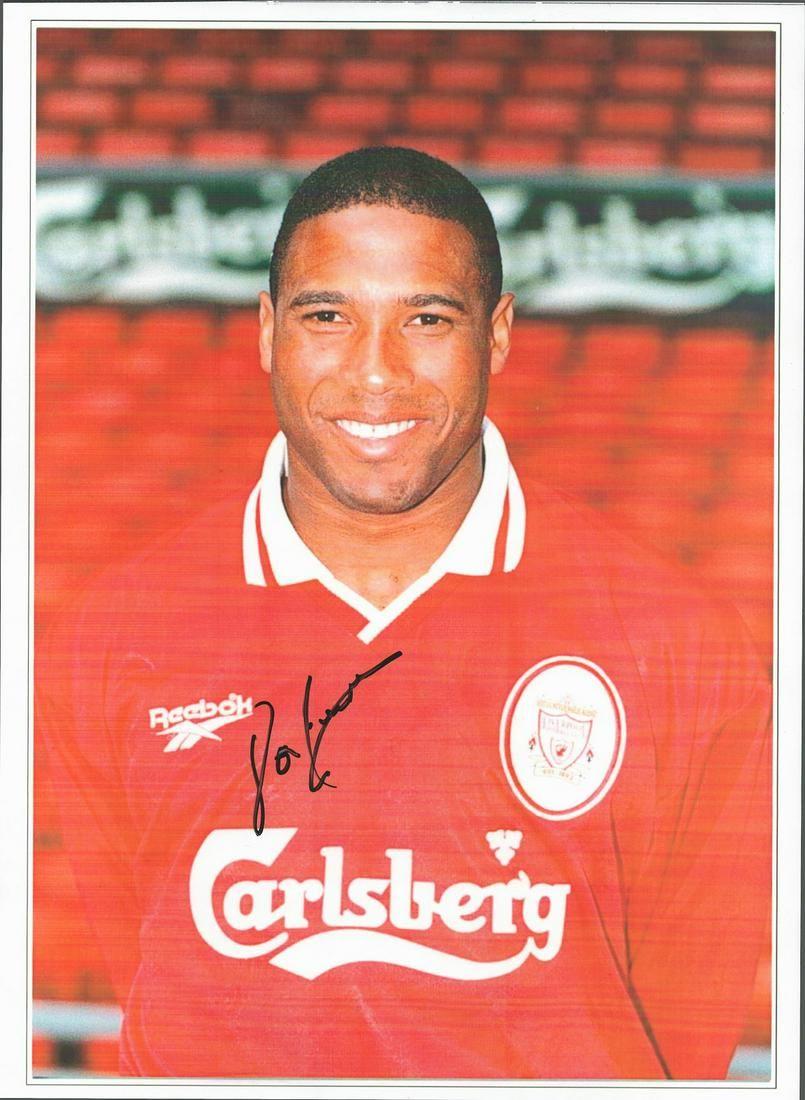 Football, John Barnes signed 16x12 colour photograph