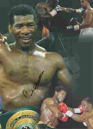 Boxing, Carl Thompson signed 16x12 colour montage