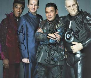 Red Dwarf signed 10x8 cast photograph includes