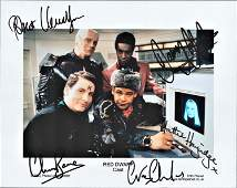Red Dwarf cast signed 10x8 photograph includes