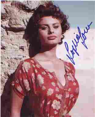 Sophia Loren 10x8 signed photo. Good condition. All