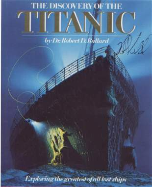Dr Robert Ballard Titanic signed 10x8 picture of the
