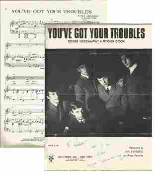 Roger Greenaway signed You've Got Your Troubles 12 x 9