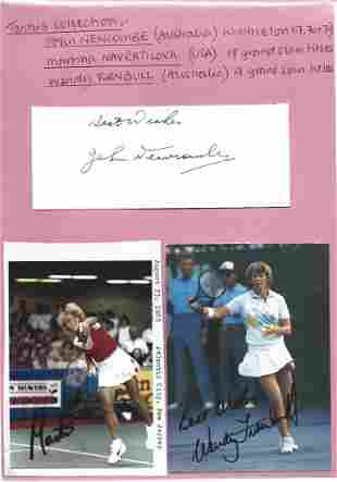 Tennis signed collection. Items signed by John